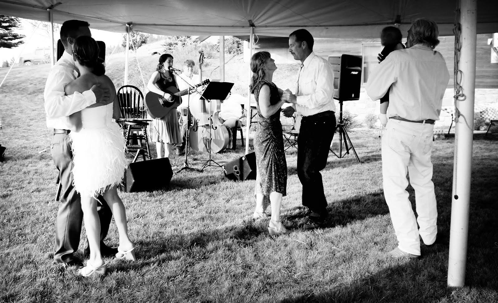 Dancing at Montana wedding Fox Crossing Farm