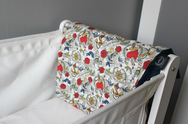 A picture of La Millou Bright Tattoo Marine Light Blanket