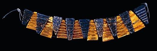 antiguo collar de la realeza sumeria lapislazuli | foro de minerales