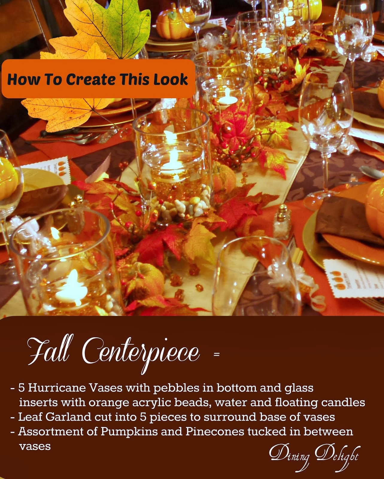 Fall Dinner Party Centerpiece