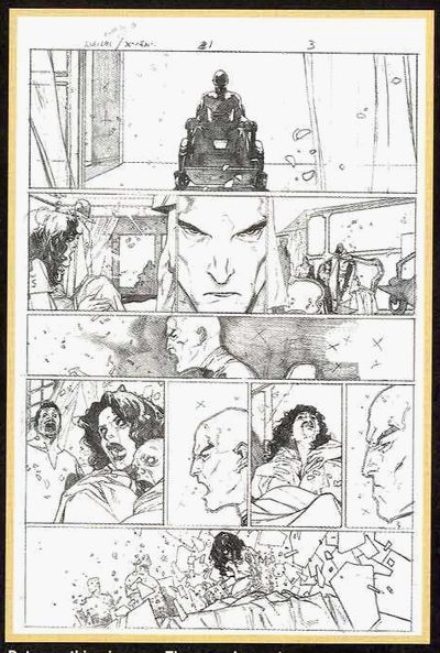 Sample sketch from House of M Director's Cut
