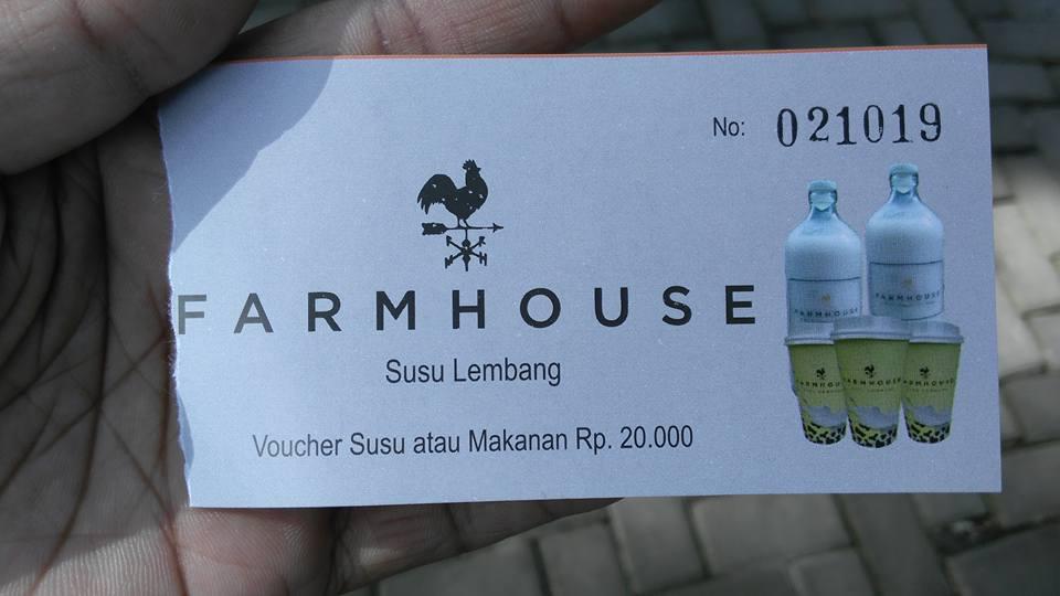 Voucher Susu dan Makanan Farm House Lembang