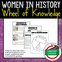 Women's History Month Resources Wheel of Knowledge