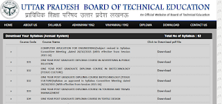 UP Diploma Syllabus