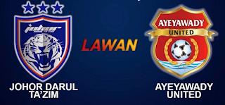 jdt vs ayeyawady united 24.2.2016
