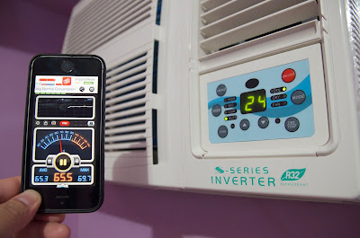 Kolin Inverter Aircon KAG-110RSINV Noise Level Comparison