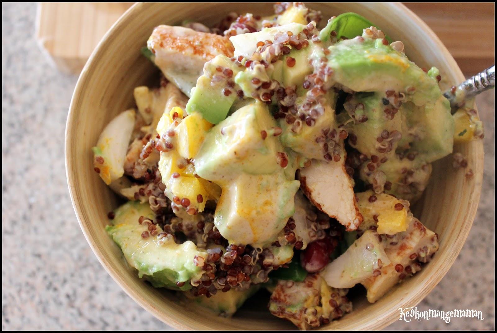 keskonmangemaman salad bowl quinoa et poulet. Black Bedroom Furniture Sets. Home Design Ideas