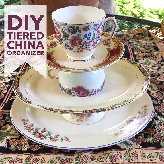 Dishfunctional Designs DIY Tiered Jewelry Organizer Made From