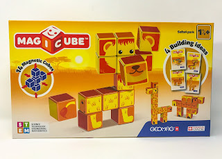 The box of Geomag safari available to win in the giveaway