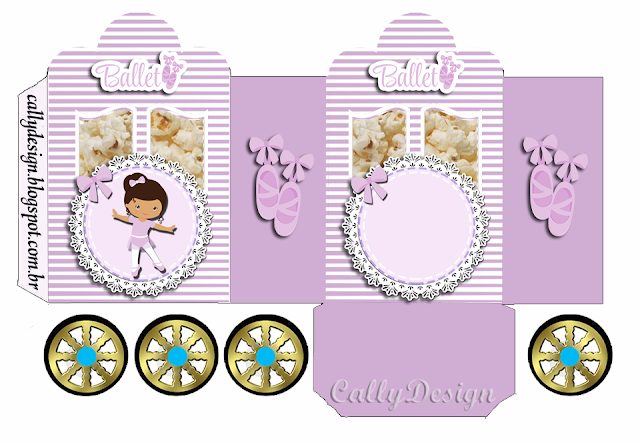 Ballerina in Purple: Free Printable Carriage Box