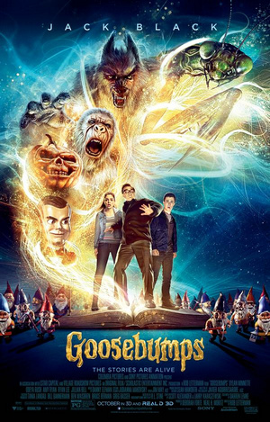 Goosebumps 2015 Dual Audio BrRip HEVC Mobile 100MB, hollywood movie goosebumps 2015 brrip hindi dubbed hd BluRay 480p compressed in small size in hd hevc mobile movie format 100mb free download with direct link from https://world4ufree.ws