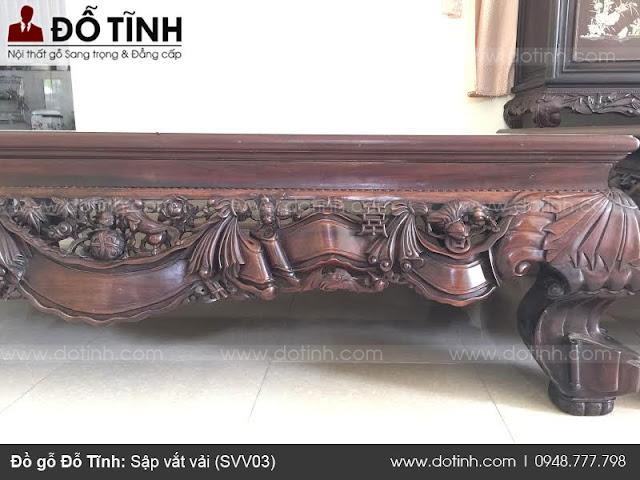 Bộ sập gỗ đẹp - Sập vắt vải (SSV03)