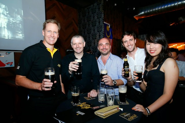 Bruce Dallas, Marketing Director of Guinness Anchor Berhad (far left) and guests at the launch event
