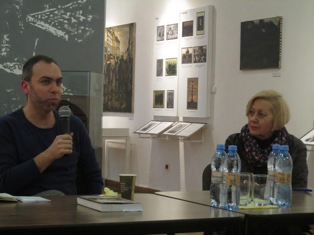 Joanna Siedlecka w Muzeum Tradycji Niepodległościowych w Łodzi
