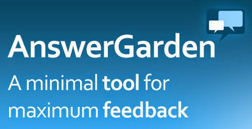 Innovate Instruct Inspire Answer Garden A Quick And Easy Polling System