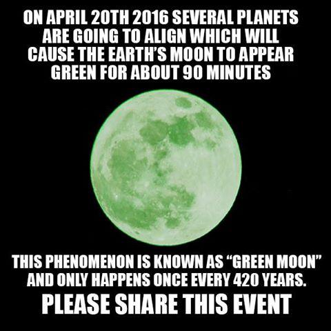 Más raro que la luna verde del 20 de abril