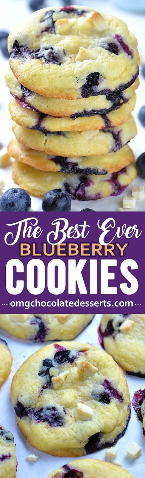 Best Ever Blueberry Cookies #cookies #cakes #desserts #cookierecipes