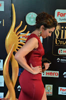 Natasha Nebasha in a Leg Slit Sleeveless Stunning Red Gown at IIFA Utsavam Awards 2017 001.JPG