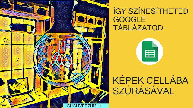 Kép beszúrása Google táblázat cellába