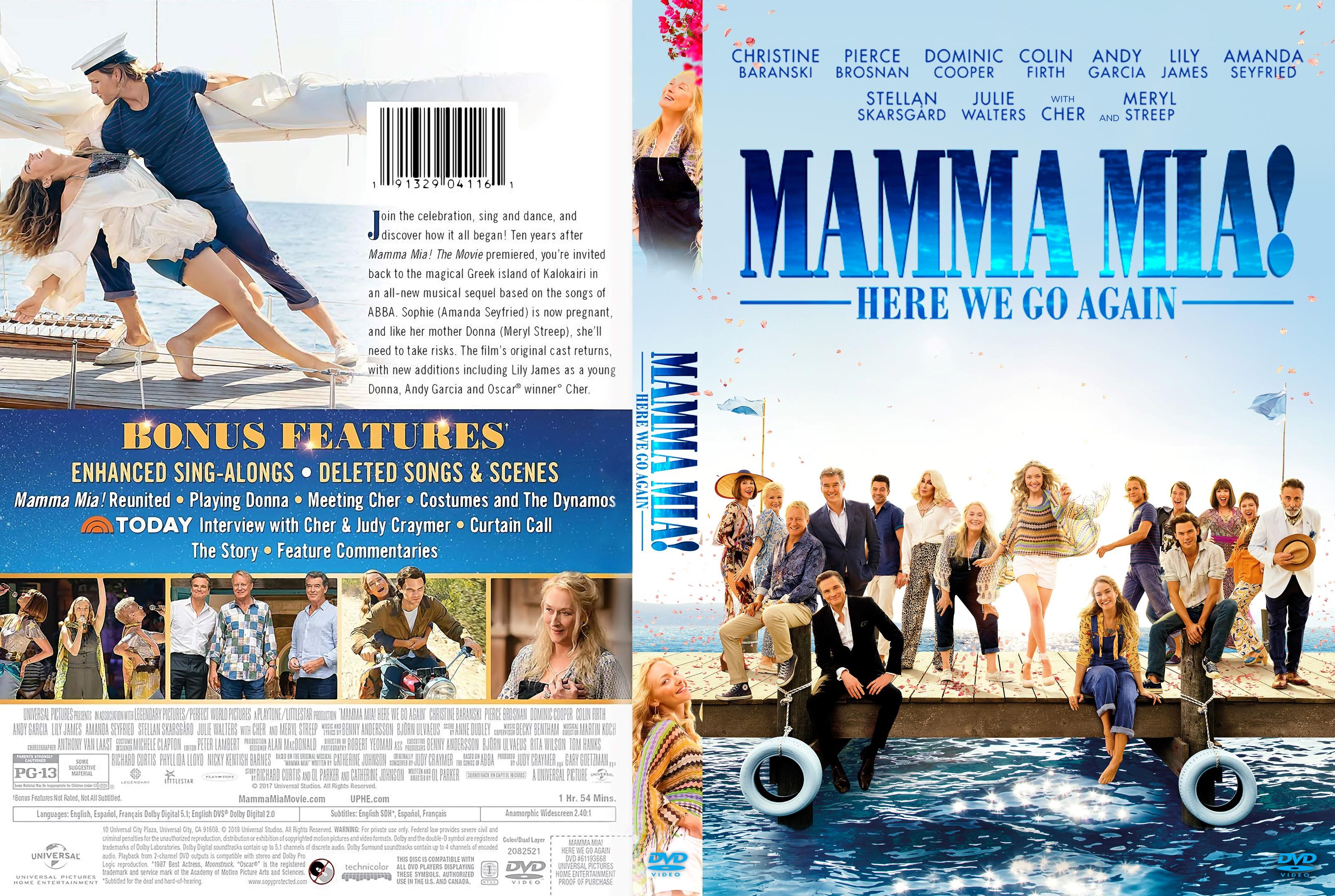 Mamma Mia Here We Go Again Dvd Cover Cover Addict Free Dvd