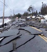 Birch Bay Drive, Birch Bay WA, after Fall storm, 2018