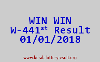 WIN WIN Lottery W 441 Results 1-1-2018