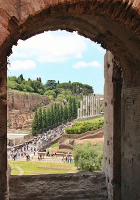 Vistas desde Coliseo en Roma