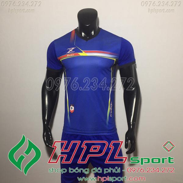 Áo bóng đá ko logo Zavikia HAT Zavi Màu Xanh Đậm