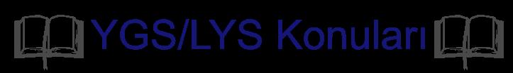 YGS-LYS Konuları 2017
