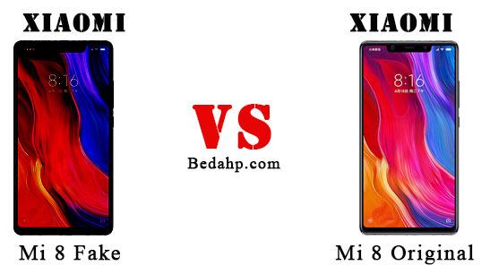cara cek Xiaomi Mi 8 asli dan palsu (KW, tiruan, HDC, replika, supercopy, cloning)