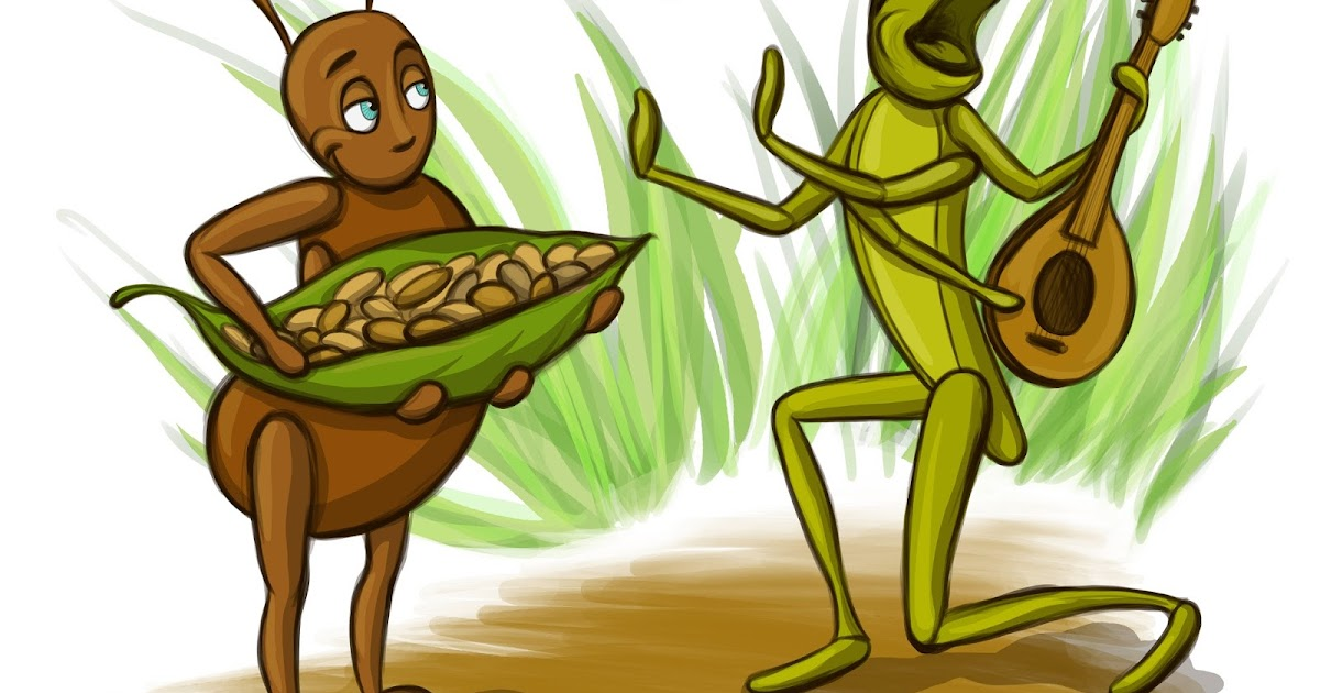 Soft image for the ant and the grasshopper story printable