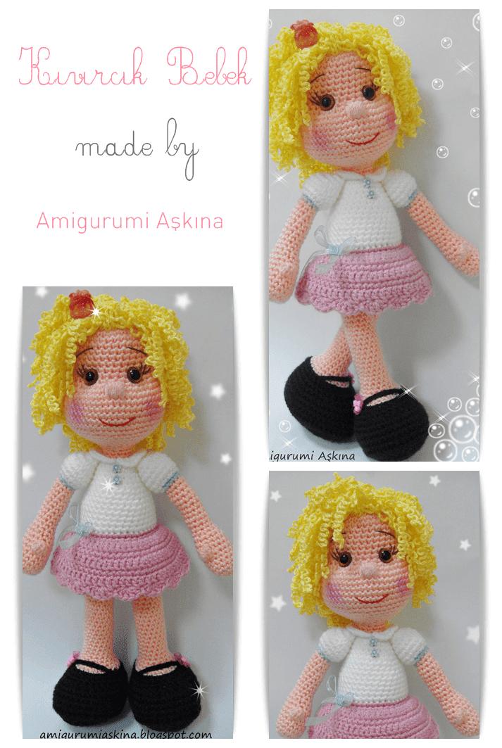 Amigurumi bebek saç yapılışı - Canım Anne | 1063x713
