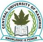 Central University of Kashmir (www.tngovernmentjobs.in)