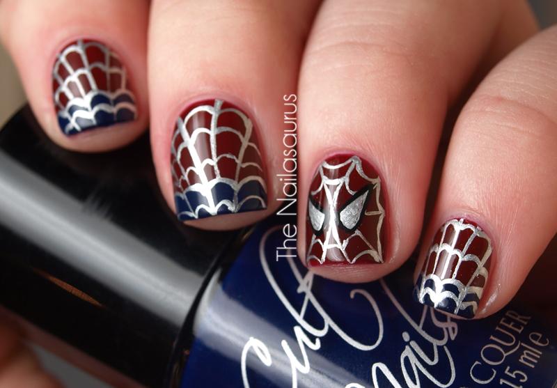 The Amazing Spider Nails Spider Man Nail Art The Nailasaurus