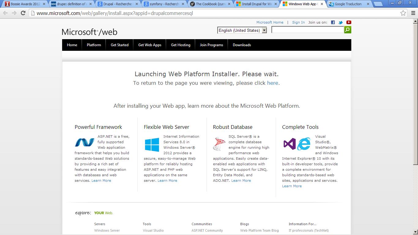 Installer: Web Platform Installer