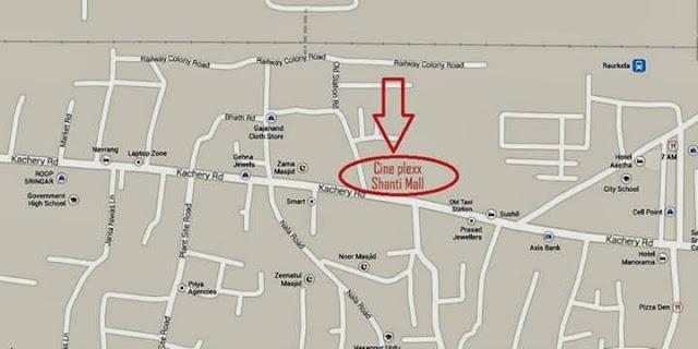 location of Cineplexx Rourkela