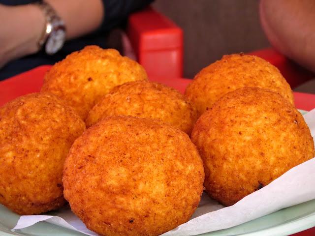 Sicilian Food - arancine balls in Palermo