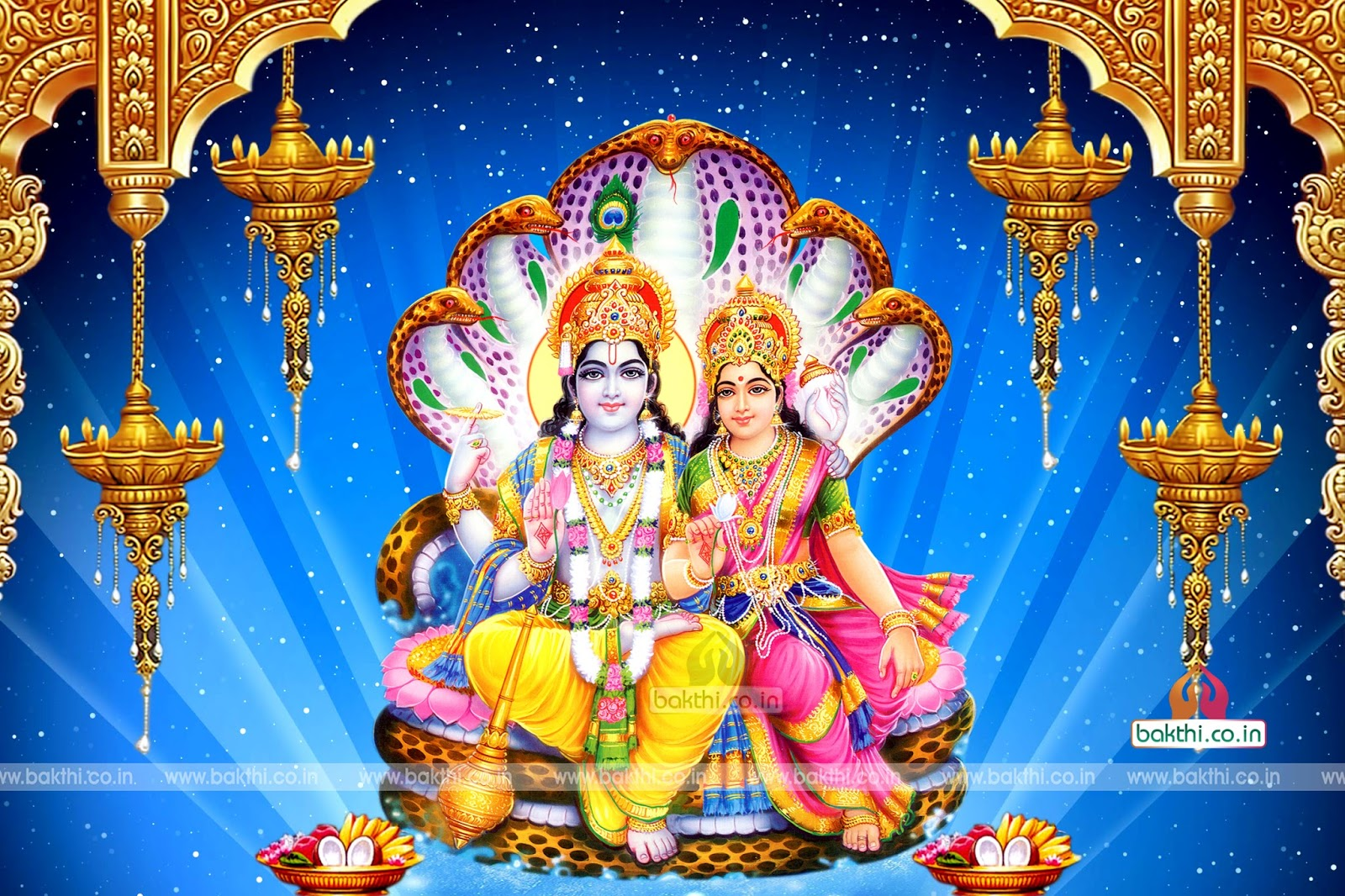 lord vishnu and goddess lakshmi photos wallpapers pictures
