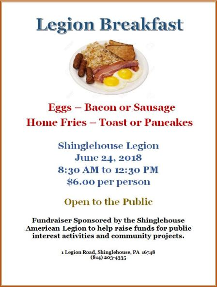 6-24 Legion Breakfast Shinglehouse