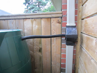 downspout Fiskars diverter rain barrel Toronto Scabrorough