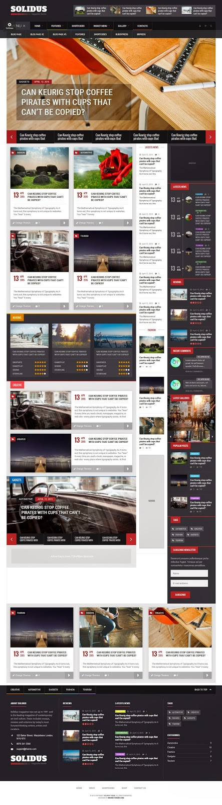 Best Responsive Magazine News Theme 2015