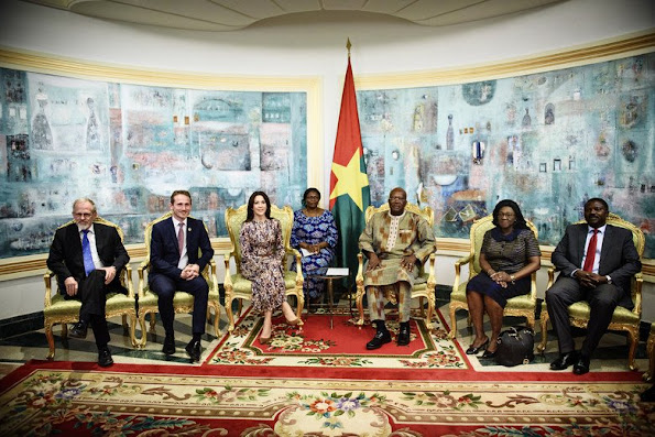 Crown Princess, together with Minister of Foreign Affairs, visited President of Burkina Faso, Roch Kabore