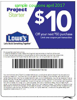 free Lowes Home Improvement coupons for april 2017