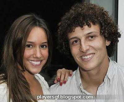 David Luiz and his girlfriend