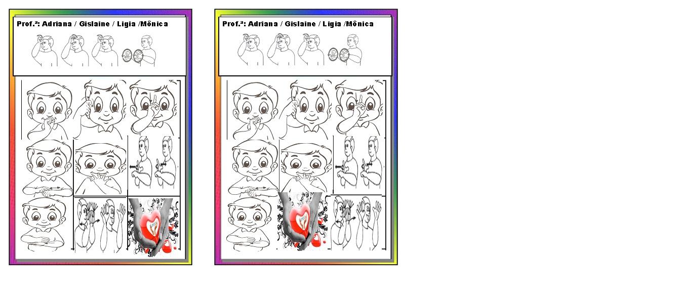 23 09 B 1 Atividades Preparatórias 2 Ofertas: Atividades Em Libras Para Crianças Surdas: Libras Cartela