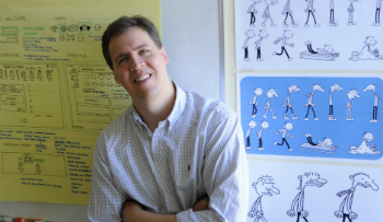 Jeff Kinney author of Diary of a Wimpy Kid books