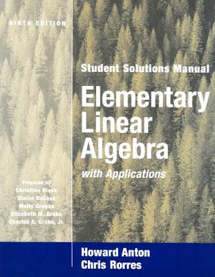 Howard Anton solutions Manual