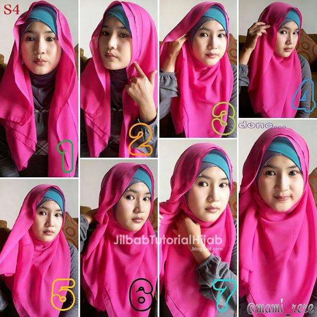 Tutorial Hijab Segi Empat untuk Sehari-hari untuk wajah bulat