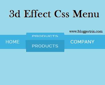 Today i came upwards amongst novel blogger widget Awesome 3d Effect Css Menu bar for Blogger