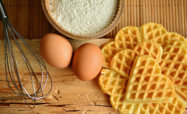 Image: Waffles Baking Ingredients, by Conger Design on Pixabay
